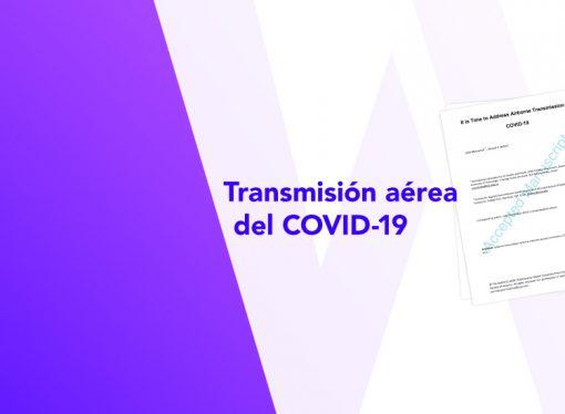 Transmisión aérea del COVID-19