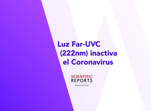 Luz far-UVC (222 nm) desactiva el coronavirus